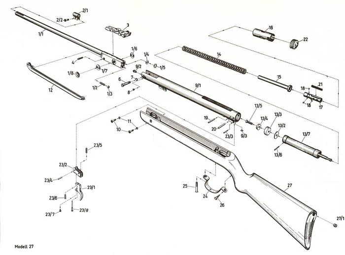luftgewehr shop luftgewehre luftpistolen und co2 waffen kaufen diana 27 ersatzteile. Black Bedroom Furniture Sets. Home Design Ideas