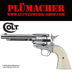 Bild von Colt Single Action Army 45 nickel CO2 Revolver 4,5 mm