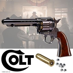 Bild von Colt Single Action Army 45 brüniert -Blue Finish- CO2 Revolver 4,5 mm