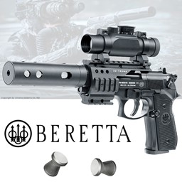 Beretta M92 FS XX-Treme CO2 Pistole mit einem Red Dot Visier