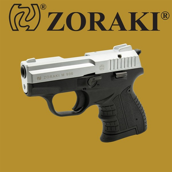 Zoraki 906 matt chrom Schreckschusspistole im Kaliber 9 mm PAK
