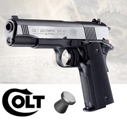 Bild von Colt Government 1911 A1 Dark Ops CO2-Pistole im Kaliber 4,5 mm
