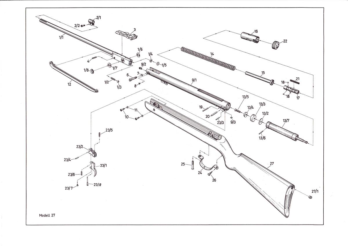 75 explosionszeichnung diana luftgewehr Luftgewehr Diana