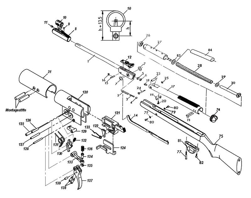 Diana Luftgewehr Ersatzteile