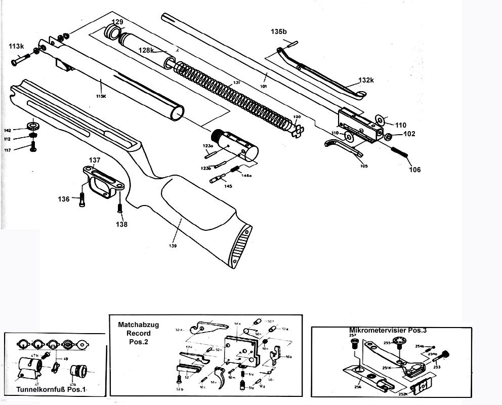 ersatzteile f r das luftgewehr hw35 luftgewehr shop luftgewehre schreckschusswaffen co2. Black Bedroom Furniture Sets. Home Design Ideas