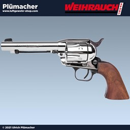 Weihrauch Western Single Action Revolver verchromt im Kaliber 9 mm R