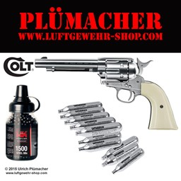 Colt Single Action Army 45 CO2 Revolver - der SAA 45 Peacemaker mit CO2 Antrieb für Stahlrundkugeln